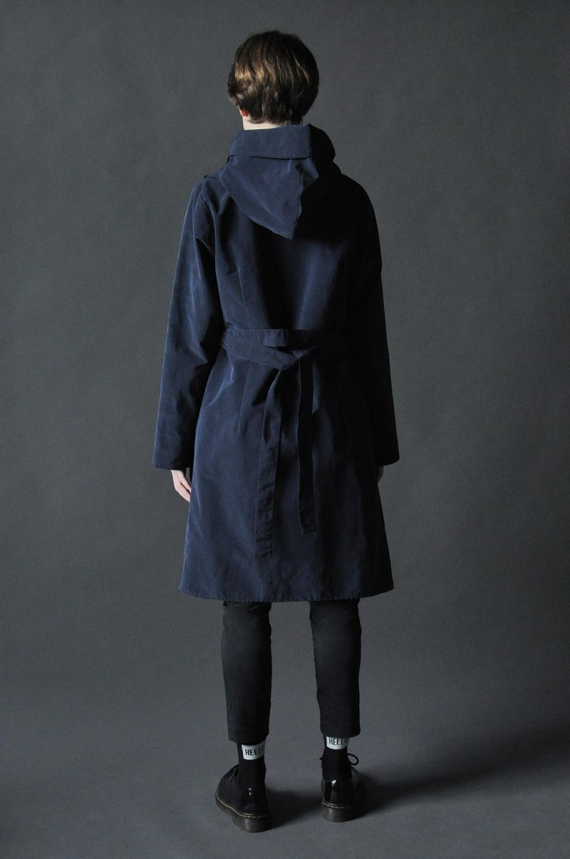 Плащ Large Hood Dark Blue
