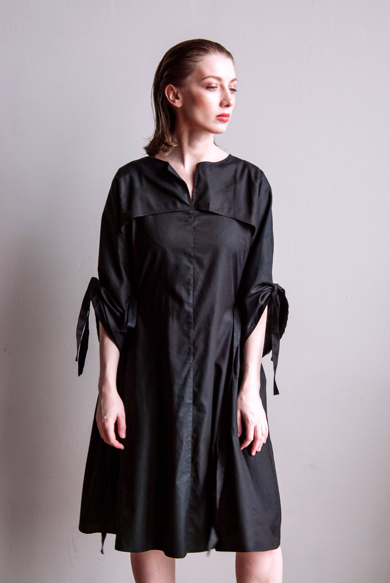 Tunic with wide sleeves Black