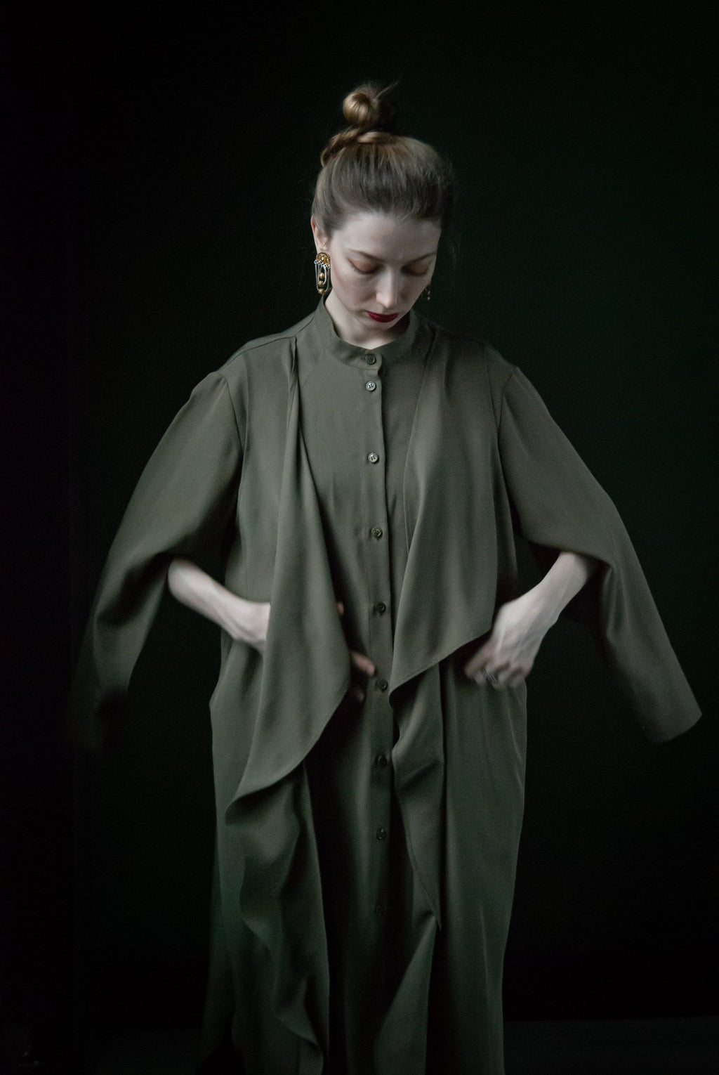 Shirt Dress FoldPocket Khaki