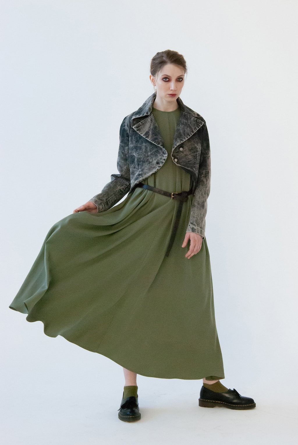 MAXI DS20 Light Olive dress