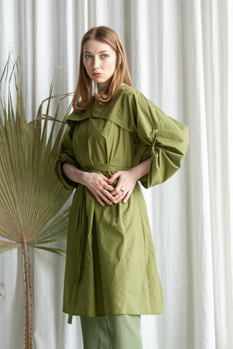 Tunic with wide sleeves Olive