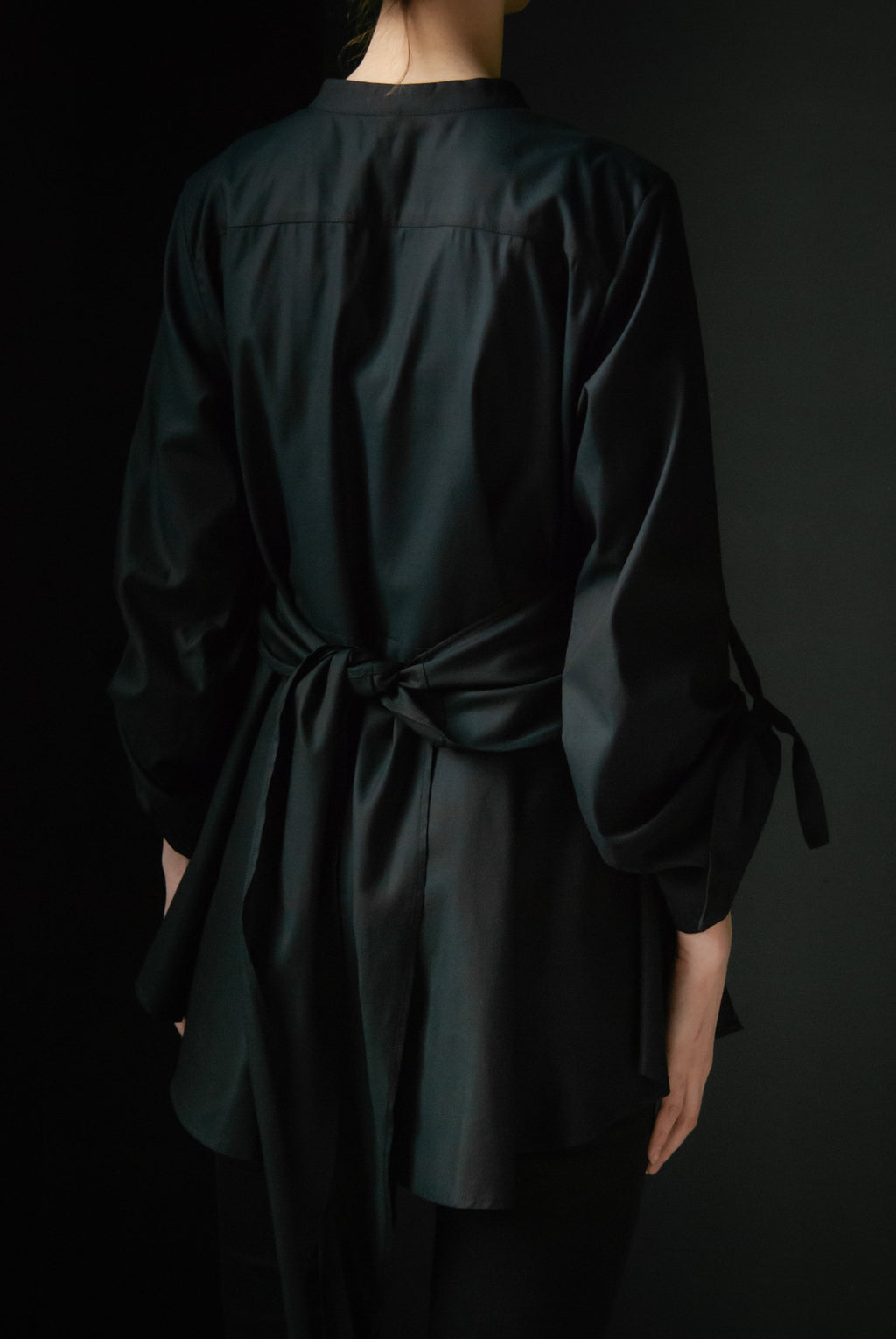 Black Shirt with waist draping