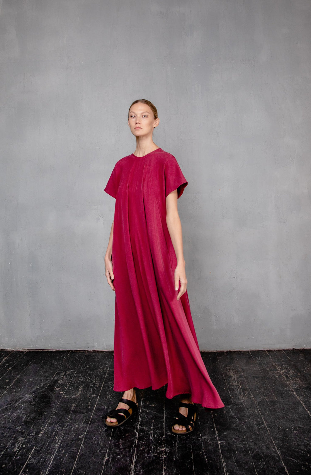 MAXI DS20 Red dress