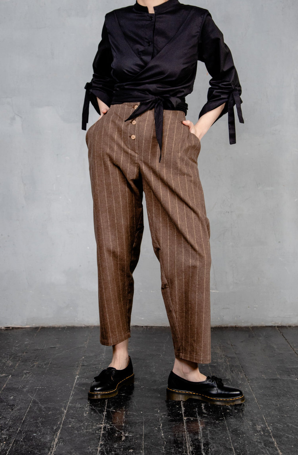 Cut Striped Trousers