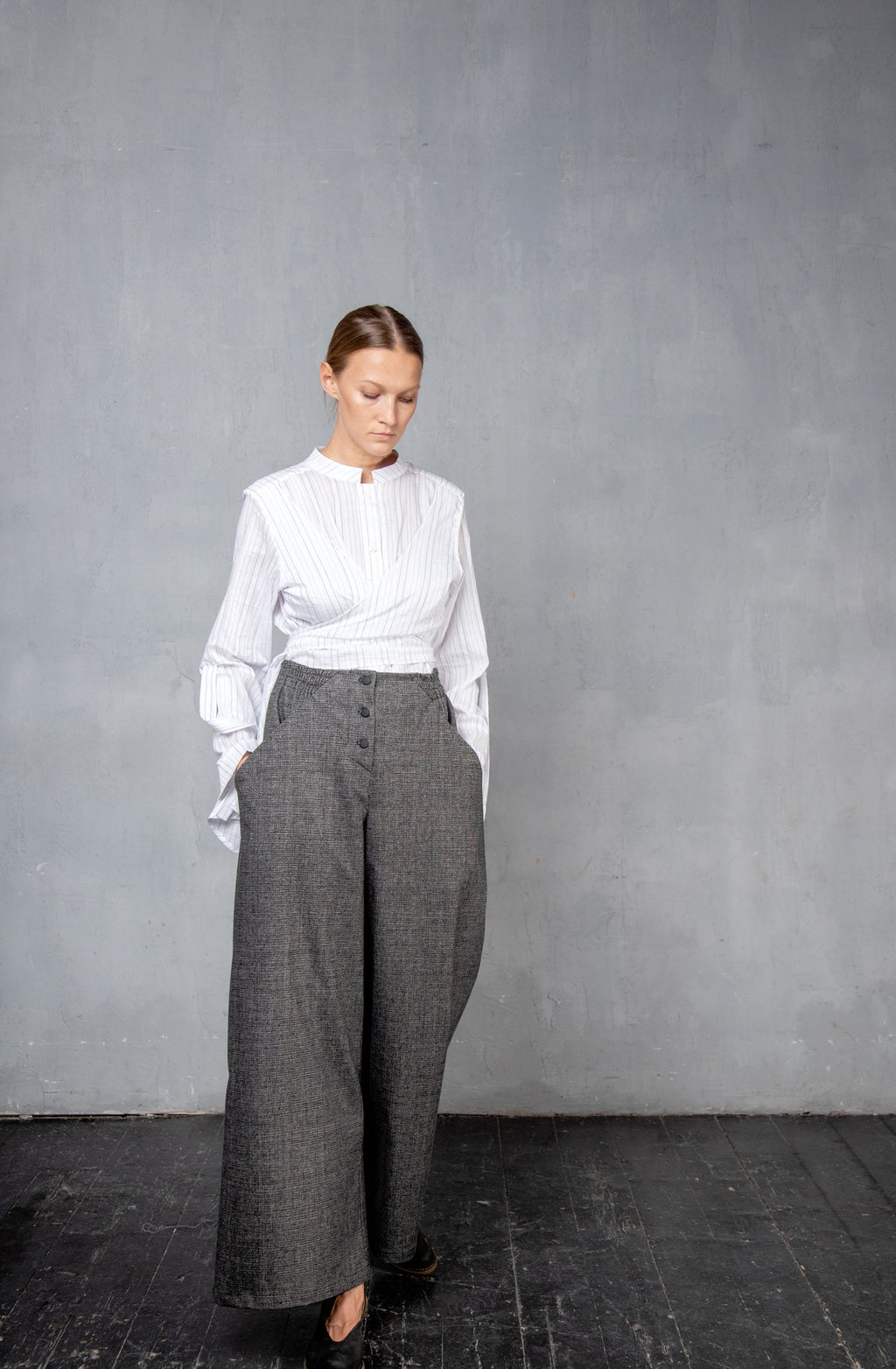 Wide leg trousers DS04