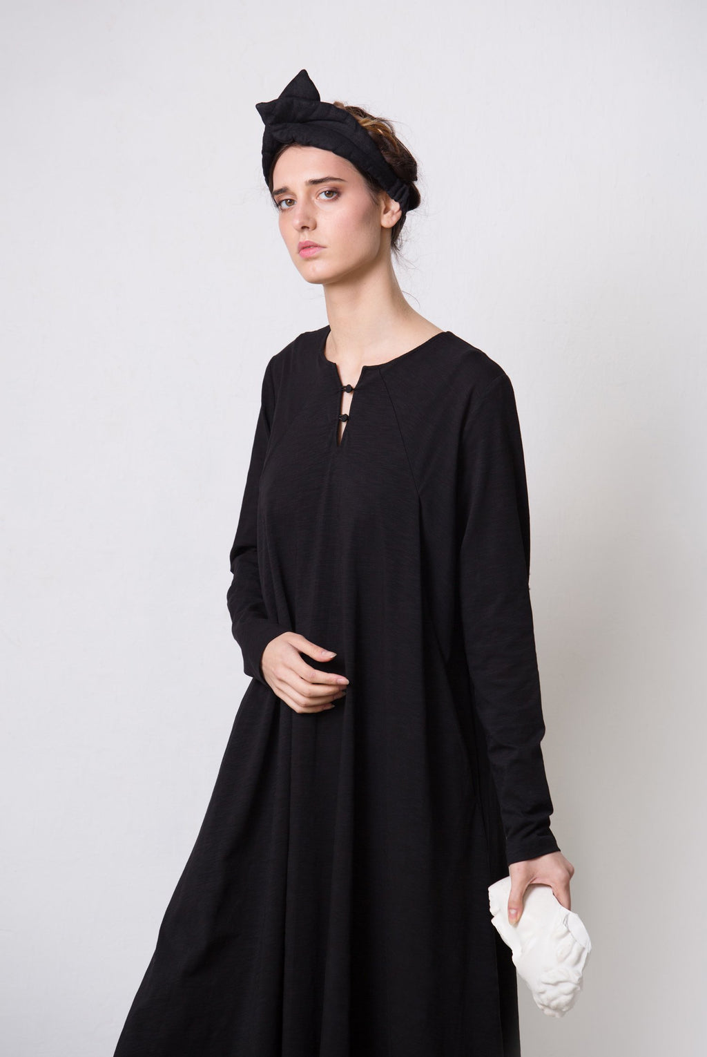 FoldPocket03 Black Dress