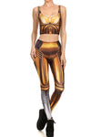 Gold Robot Leggings - POPRAGEOUS  - 1