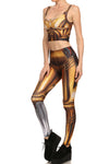 Gold Robot Leggings - POPRAGEOUS  - 2