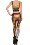 Gold Robot Leggings - POPRAGEOUS  - 4
