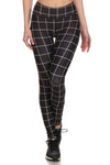 Black Grid Dream Leggings - POPRAGEOUS  - 1