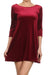 Velvet Shift Dress - Burgundy