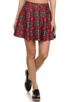 The Ultimate Tartan Skater Skirt -Red - POPRAGEOUS  - 1