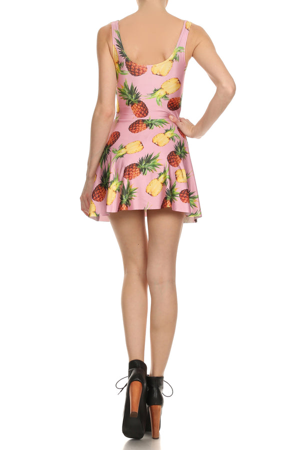 Pineapple Skater Dress - POPRAGEOUS  - 4