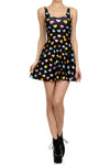 Candy Heart Skater Dress - Black - POPRAGEOUS  - 1