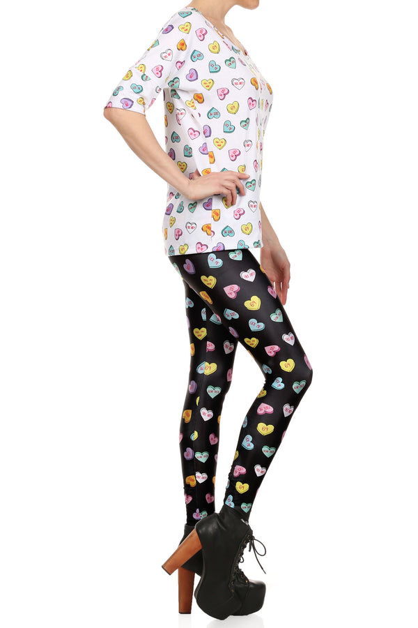 Candy Heart Leggings - POPRAGEOUS  - 3