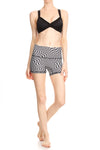 Trippy Checker Yoga Shorts