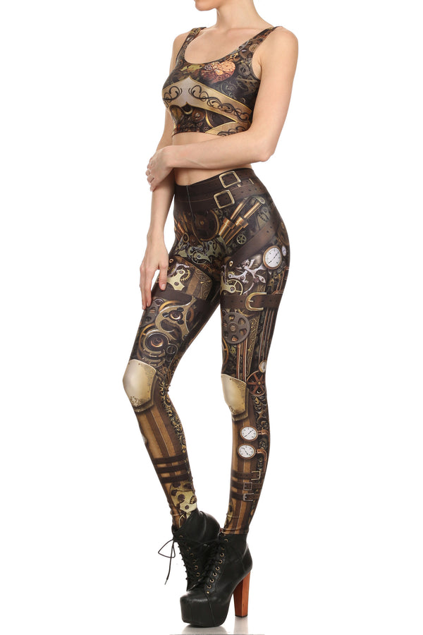 Steampunk Crop Top - POPRAGEOUS  - 2