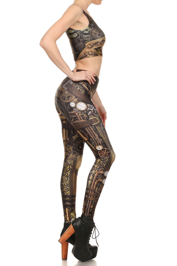 Steampunk Crop Top - POPRAGEOUS  - 3