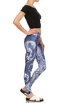 Blue China Dragon Leggings - POPRAGEOUS  - 3