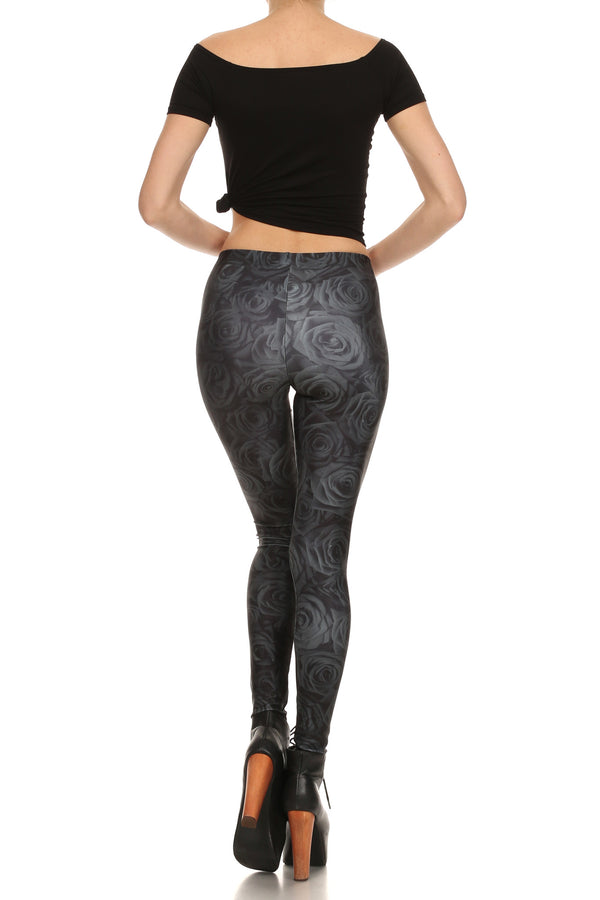 Black Rose Leggings - POPRAGEOUS  - 4