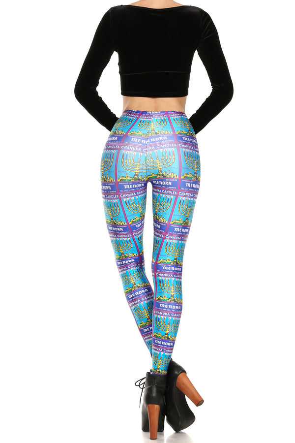 Menorah Leggings - POPRAGEOUS  - 4