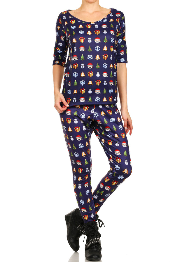 Christmas Emoji Long Shirt - POPRAGEOUS  - 1
