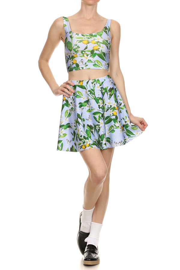 Periwinkle Blossom Crop Top - POPRAGEOUS  - 1