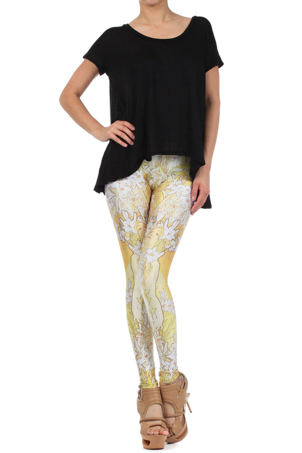 Mucha Lily Leggings - POPRAGEOUS  - 1