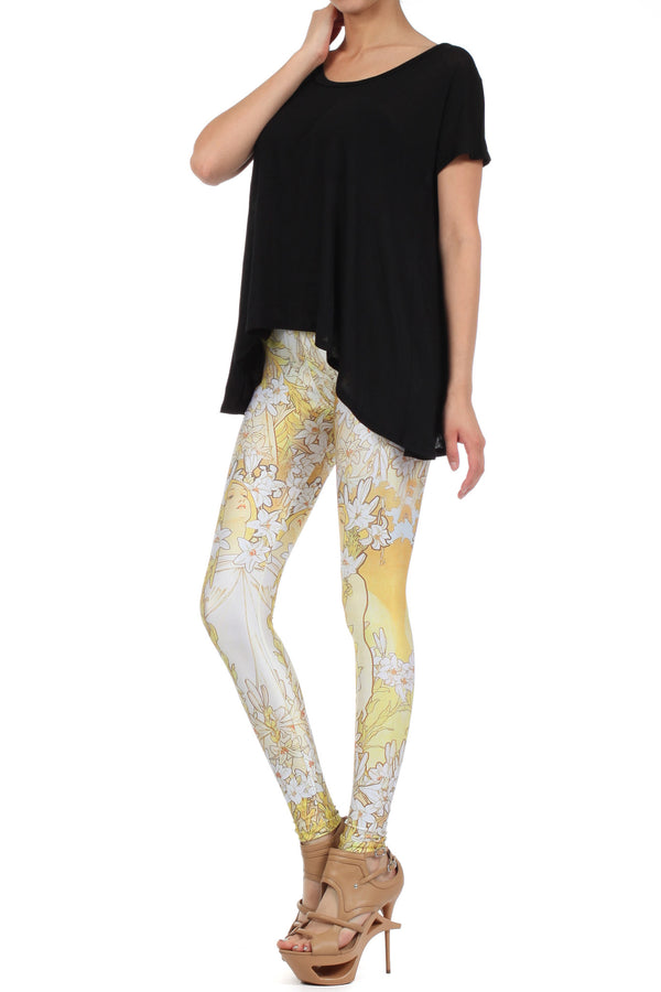 Mucha Lily Leggings - POPRAGEOUS  - 2