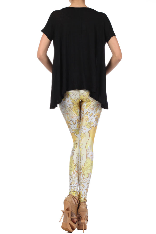 Mucha Lily Leggings - POPRAGEOUS  - 4