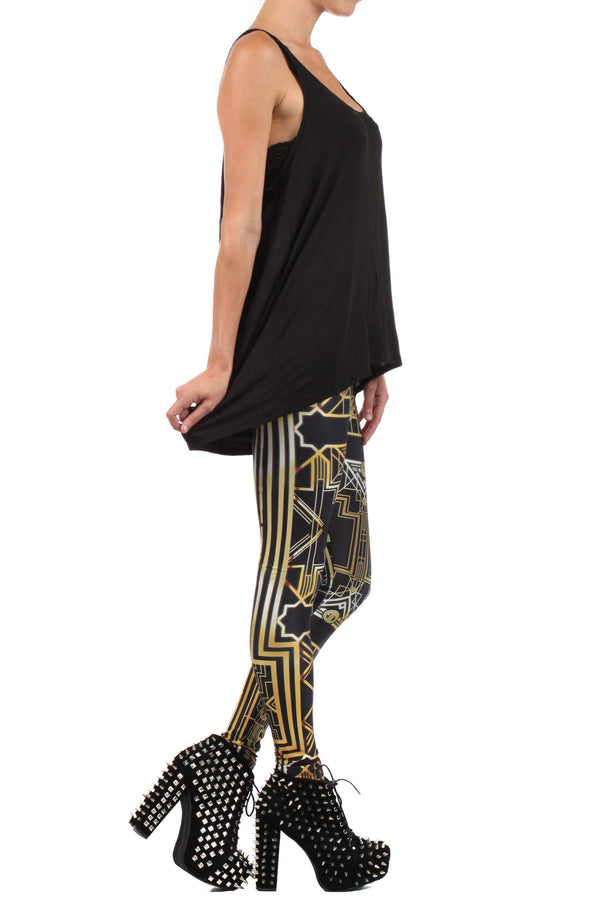 Art Deco Leggings - POPRAGEOUS  - 3