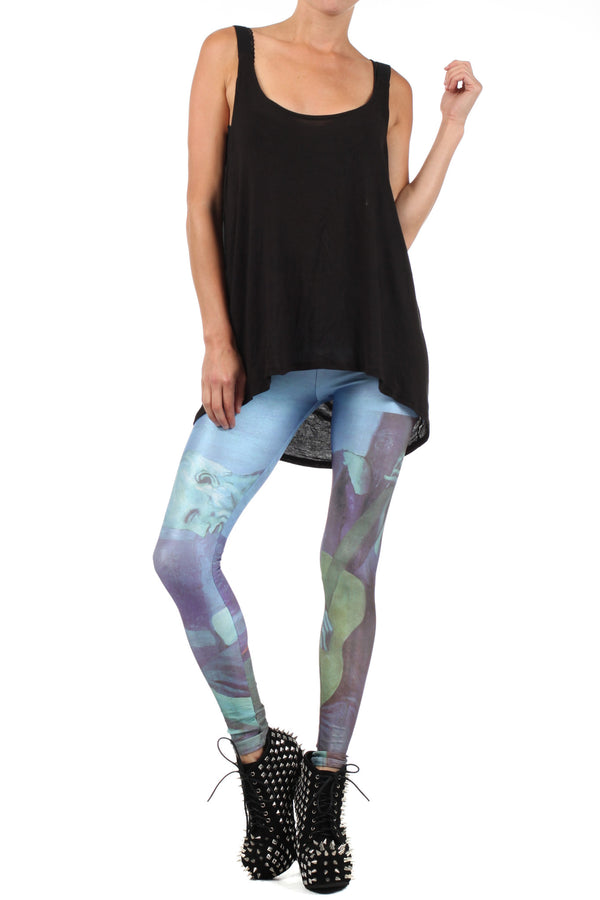 Picasso Old Guitarist Leggings - XXS - POPRAGEOUS  - 1