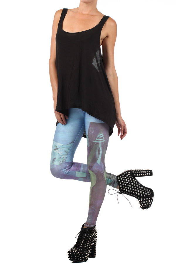 Picasso Old Guitarist Leggings - XXS - POPRAGEOUS  - 2