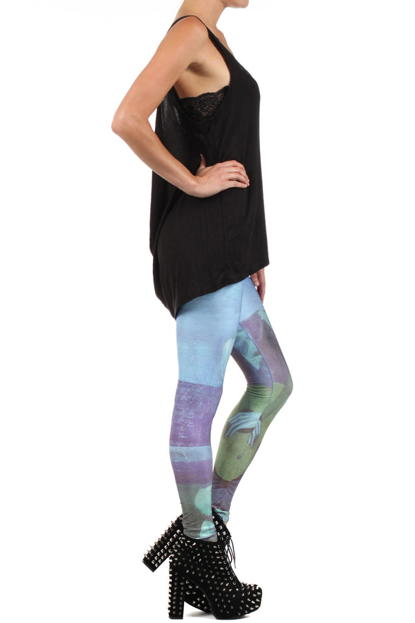 Picasso Old Guitarist Leggings - POPRAGEOUS  - 3