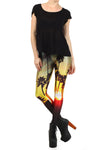 Palm Tree Sunset Leggings - POPRAGEOUS  - 1