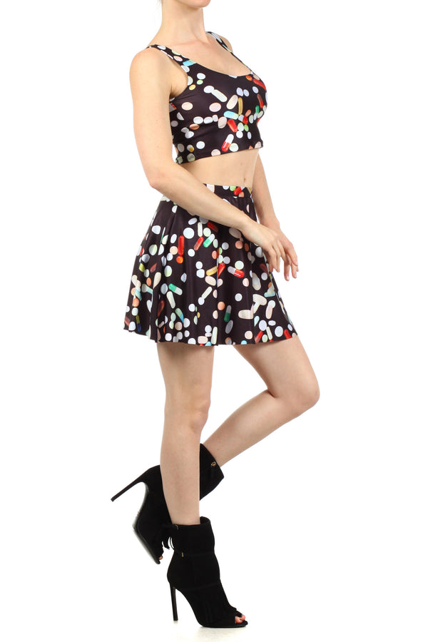 Chill Pill Skater Skirt - POPRAGEOUS  - 3