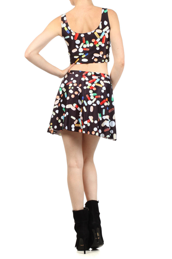Chill Pill Skater Skirt - POPRAGEOUS  - 4