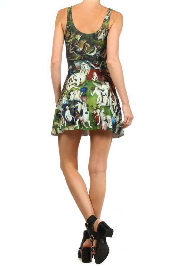 Garden of Earthly Delights Skater Dress - POPRAGEOUS  - 4
