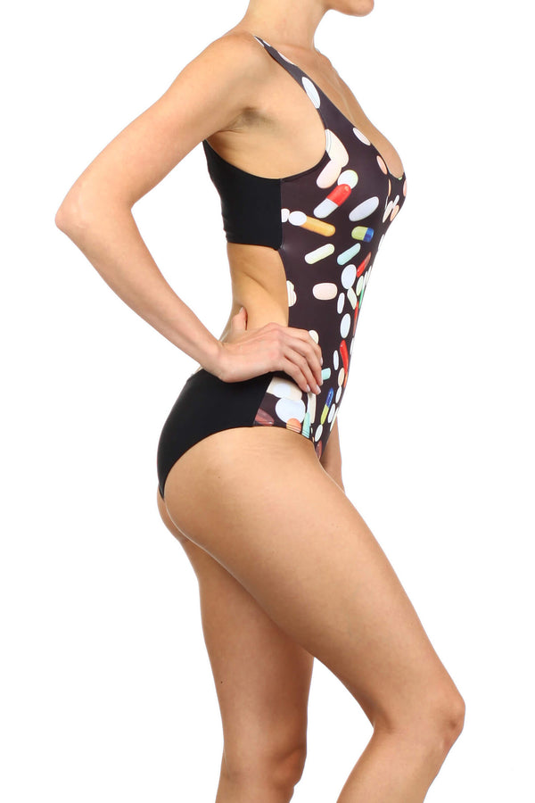 Chill Pill One-Piece Swim - POPRAGEOUS  - 2
