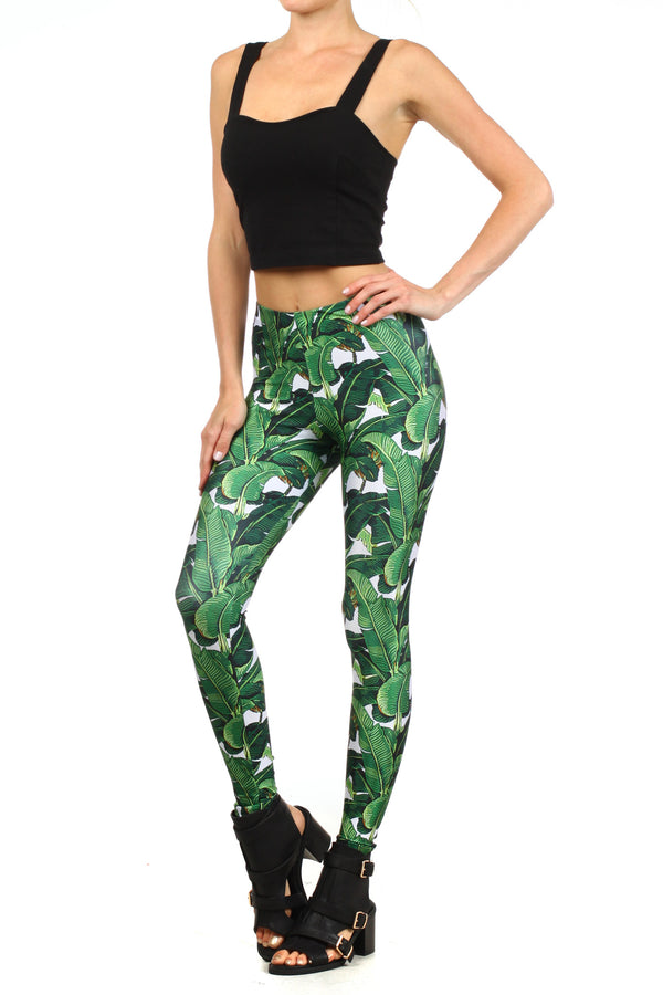 Banana Leaf Leggings - POPRAGEOUS  - 2