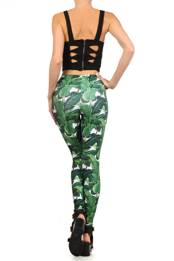Banana Leaf Leggings - POPRAGEOUS  - 4