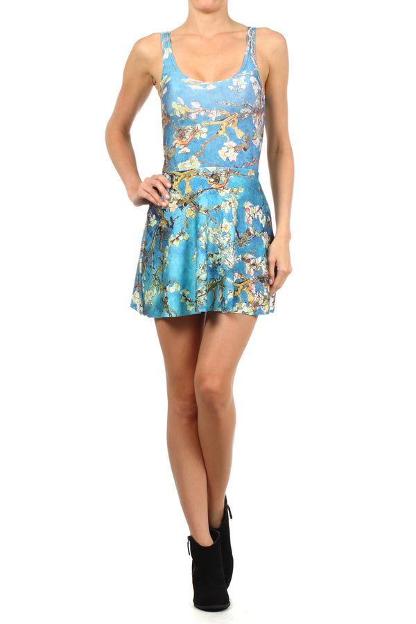 Almond Blossom Skater Dress - POPRAGEOUS  - 1