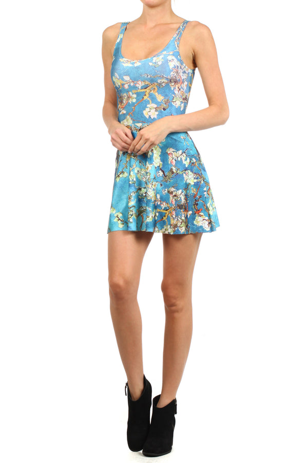 Almond Blossom Skater Dress - POPRAGEOUS  - 2