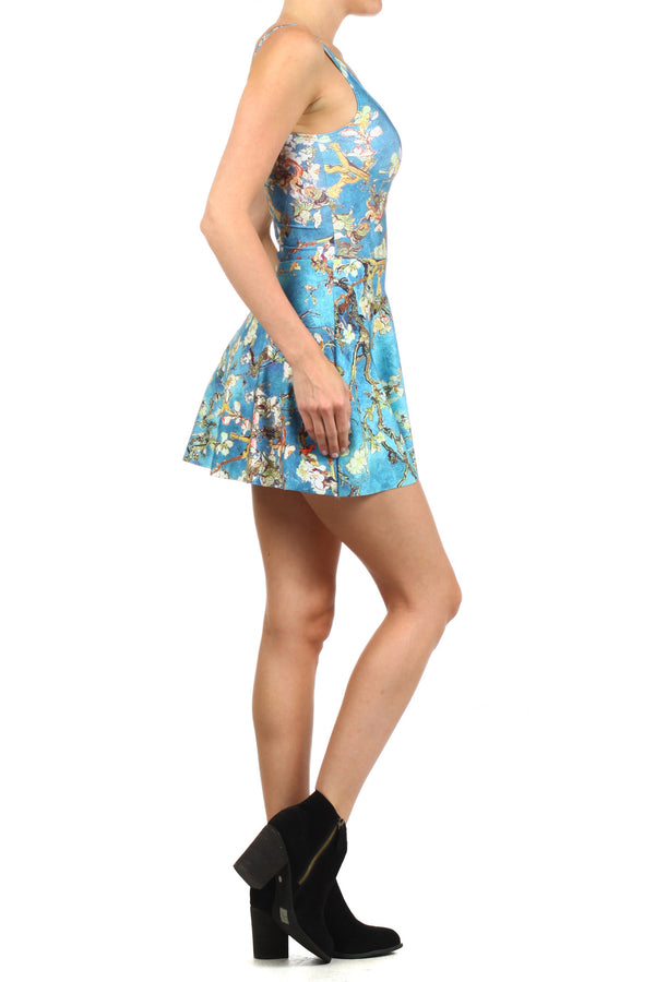Almond Blossom Skater Dress - POPRAGEOUS  - 3