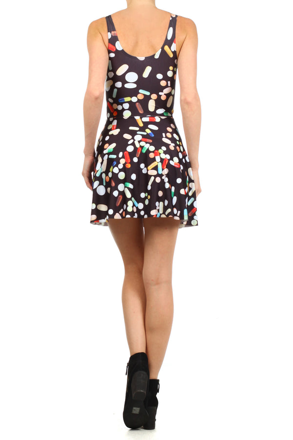 Chill Pill Skater Dress - POPRAGEOUS  - 4