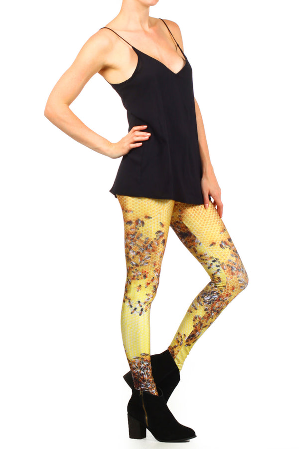 Honeybee Leggings - POPRAGEOUS  - 3