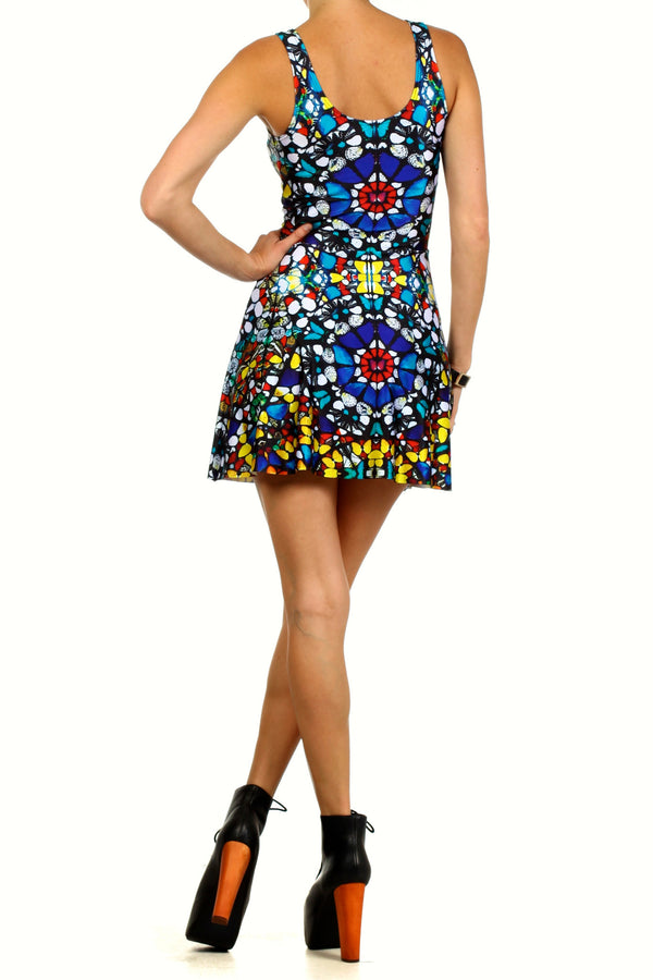 Glass Butterfly Skater Dress - POPRAGEOUS  - 4