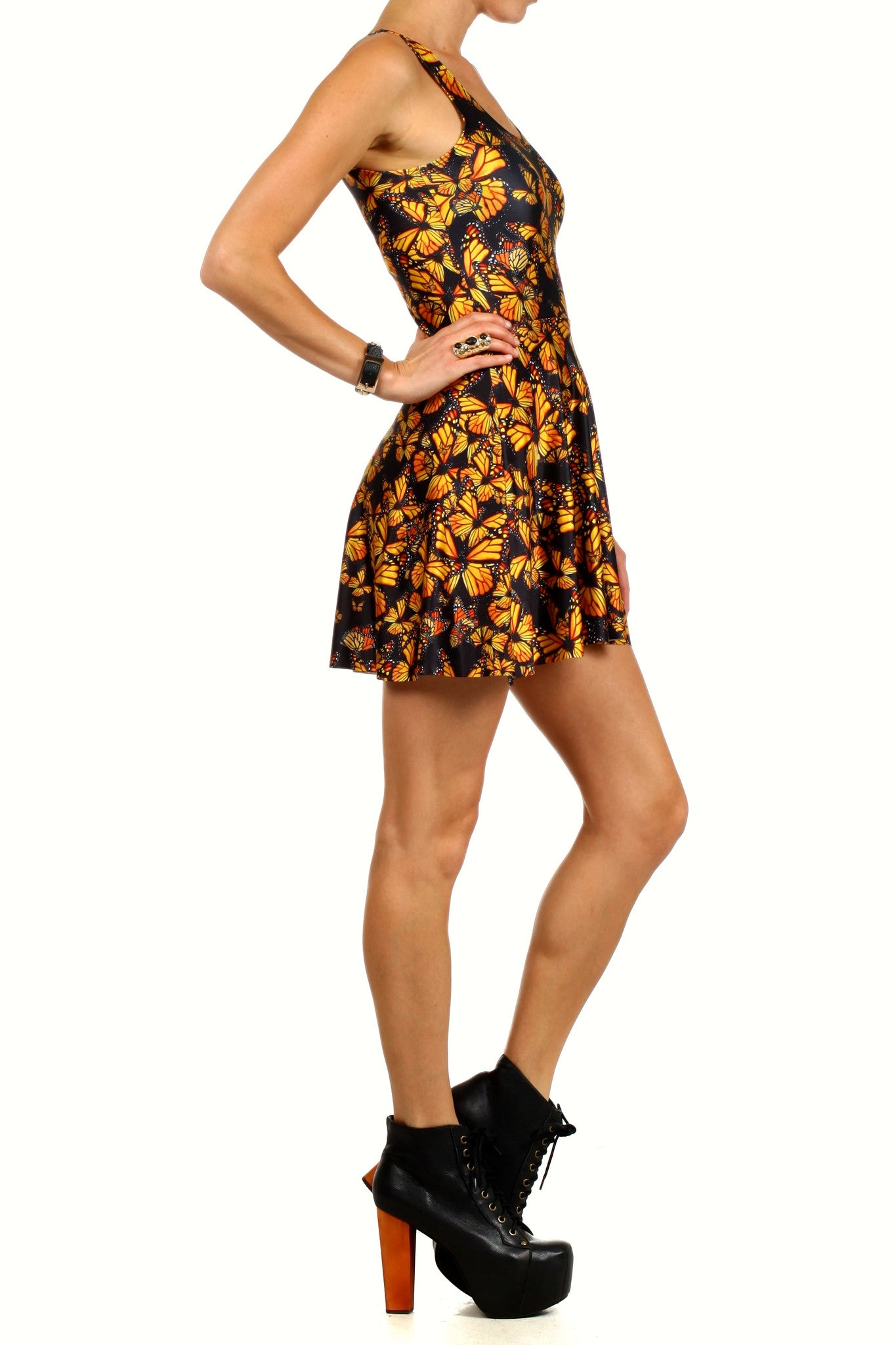 Attack of the Monarchs Skater Dress - POPRAGEOUS  - 3