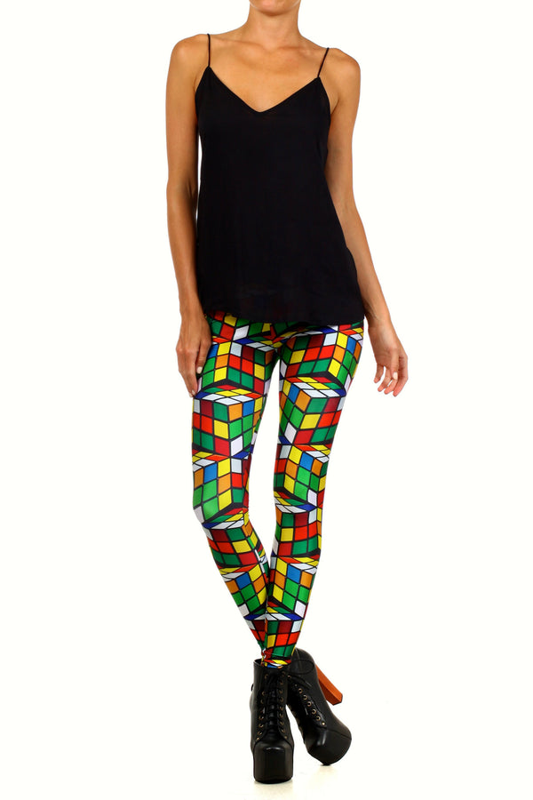 Rubix Cube Leggings - POPRAGEOUS  - 1