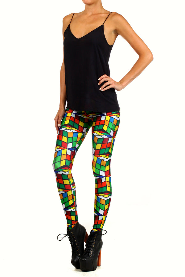 Rubix Cube Leggings - POPRAGEOUS  - 2